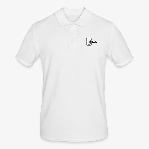 thiccc logo WHITE and BLACK - Men's Polo Shirt