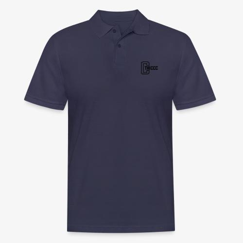 thiccc logo White - Men's Polo Shirt