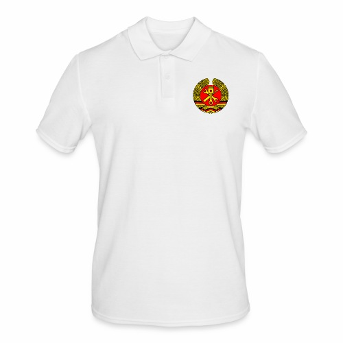 DDR Tuning Coat of Arms 3c (+ Your Text) - Men's Polo Shirt