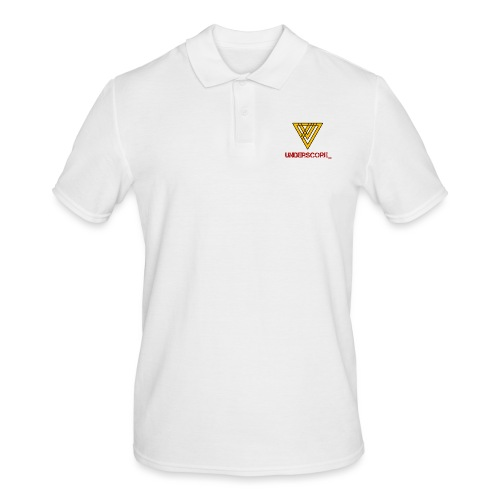 Underscore Yellow Red - Men's Polo Shirt