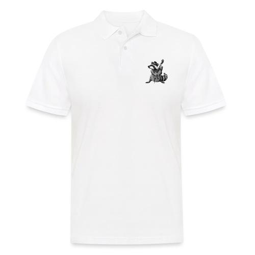 Racoon Musician - Männer Poloshirt
