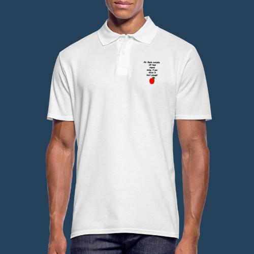 Lustiger Apfelspruch - Männer Poloshirt