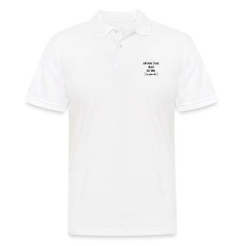 Neben der Spur. Lustige Geschenkidee - Männer Poloshirt
