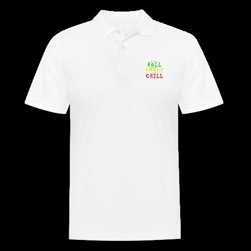 first ROLL then SMOKE now CHILL - Männer Poloshirt
