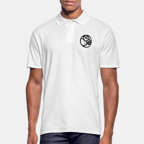Triskele triskelion BDSM Emblem HiRes 1 color - Männer Poloshirt