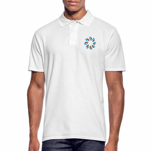Barfuß-Kreis blau-braun - Männer Poloshirt