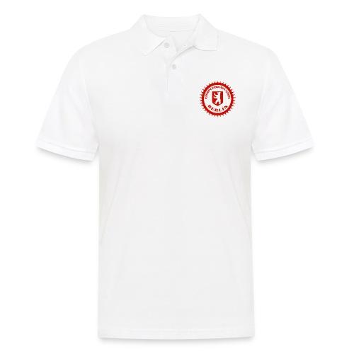 Logo in Rot Weiß - Männer Poloshirt