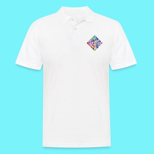 A square school of triangular coloured fish - Men's Polo Shirt