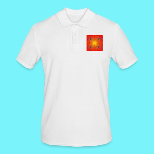 Pursuit curve in red and yellow - Men's Polo Shirt