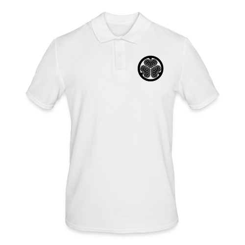Japanese Family Crest Mitsubaaoi - Männer Poloshirt