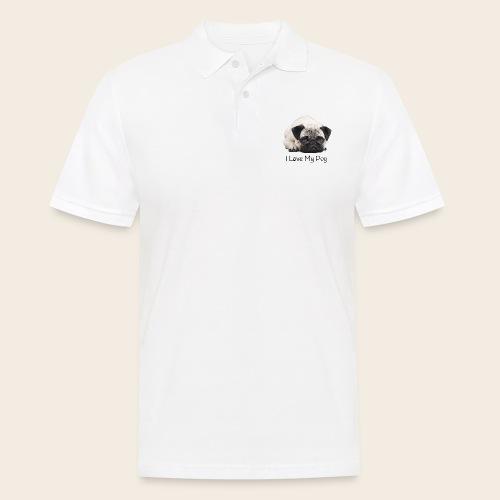 love my pug - Männer Poloshirt