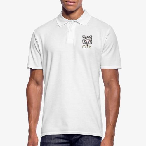 Wolkskopf mit Runen - Männer Poloshirt