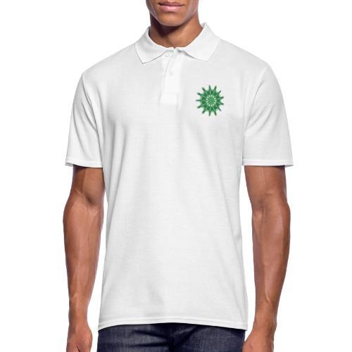 green steering wheel Green starfish 9376alg - Men's Polo Shirt
