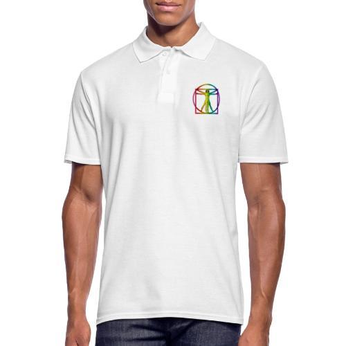 Vitruvian Man Rainbow 8 color - Miesten pikeepaita