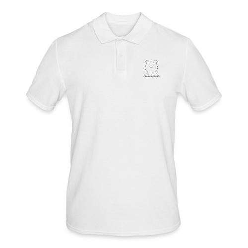 2pigeonswhite png - Men's Polo Shirt
