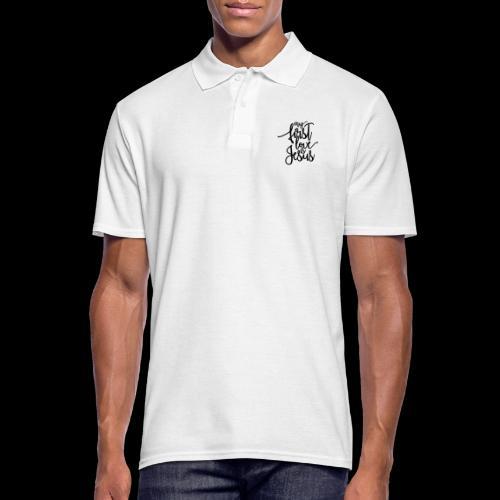My fist love is Jesus - Männer Poloshirt