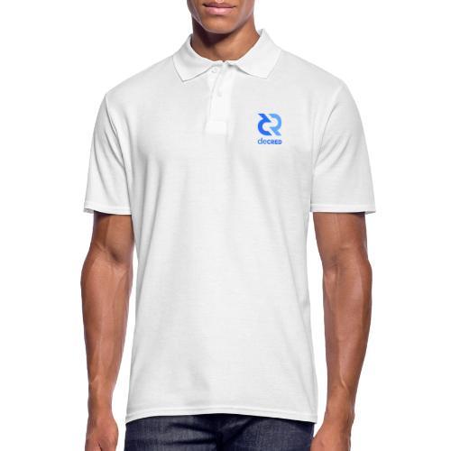 Decred logo vertical blue - Mannen poloshirt