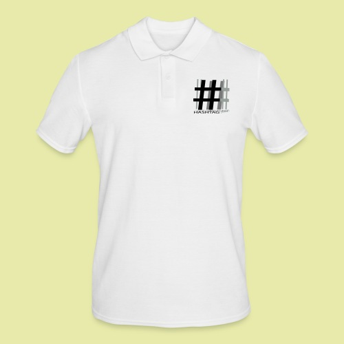 Hashtag - Männer Poloshirt