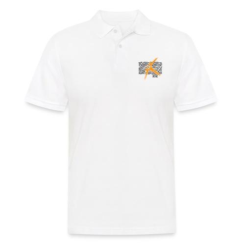 Palazzo Textblock auf weiss/on white - Männer Poloshirt