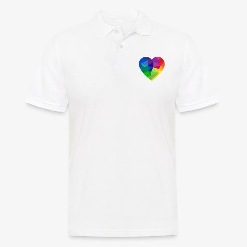 fractal heart - Men's Polo Shirt