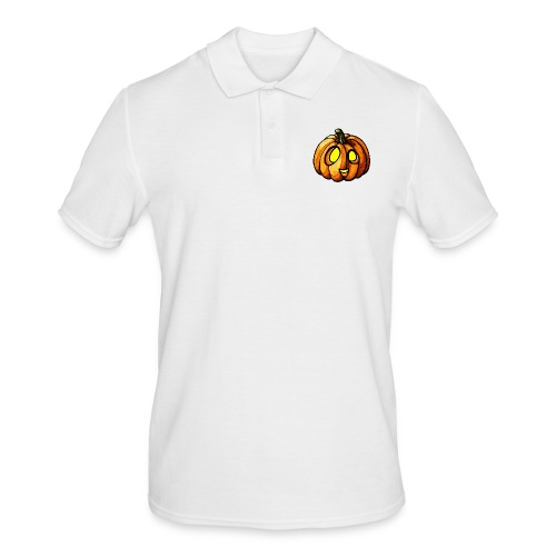 Pumpkin Halloween watercolor scribblesirii - Men's Polo Shirt