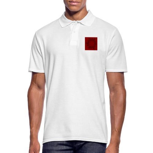 Mandala, rot-schwarz - Männer Poloshirt