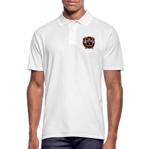 dicker Mops - Männer Poloshirt