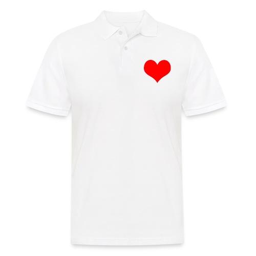rotes Herz - Männer Poloshirt