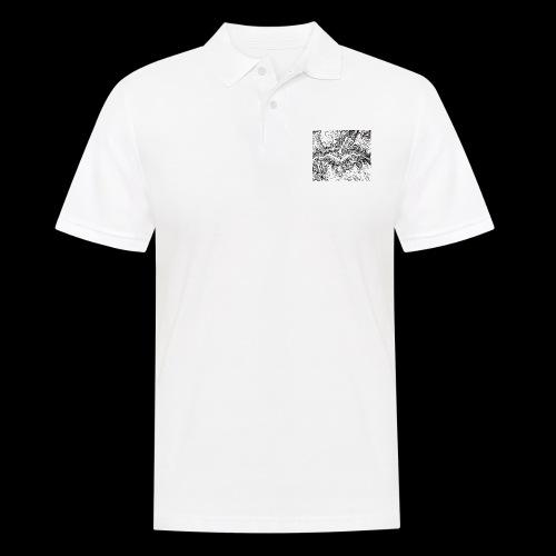 Hoehenlinien schwarz - Männer Poloshirt