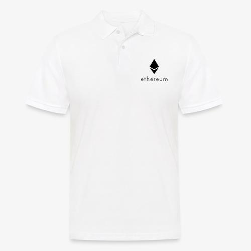 Ethereum Logo mit Schriftzug (Schwarz 1) - Männer Poloshirt