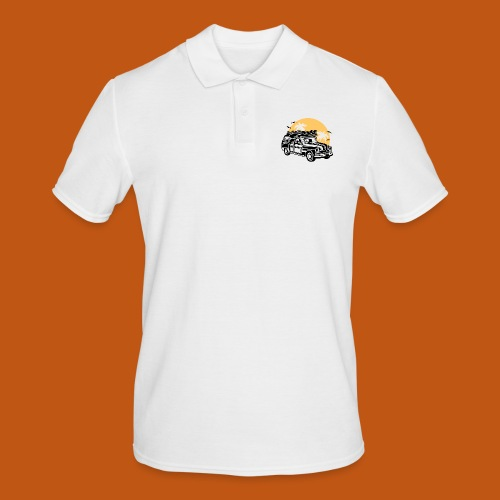 Chevy Cadilac Woodie / Oldtimer Kombi 01_3c - Männer Poloshirt
