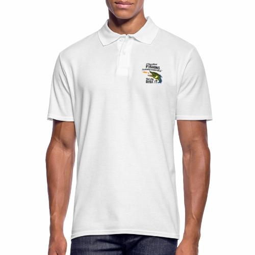 A Day without Fishing Hecht Pike Fishyworm Angel - Männer Poloshirt