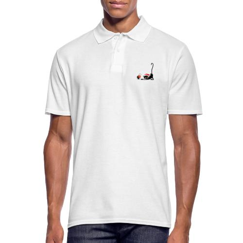 Cat chases mouse - Men's Polo Shirt