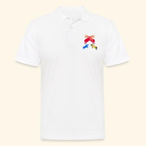 Multi coloured Magical fairy tale unicorns - Men's Polo Shirt
