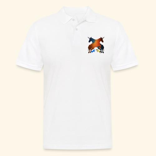 Unicorns 4 lucky mane fairy tale unicorns leaping - Men's Polo Shirt