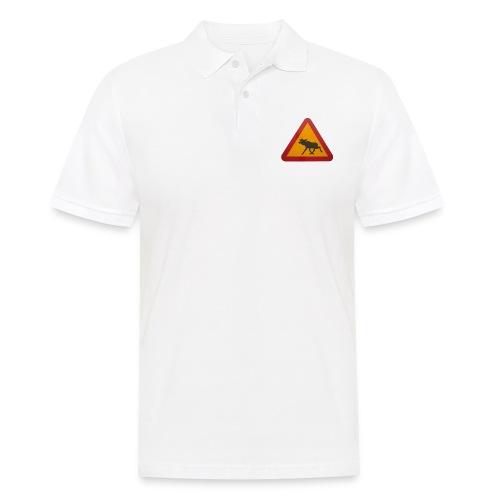 Warnschild Elch - Männer Poloshirt