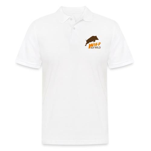 Logo Wild auf Wild Orange - Männer Poloshirt