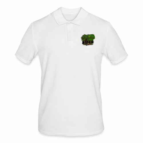 Bigfoot Campfire Forest - Men's Polo Shirt