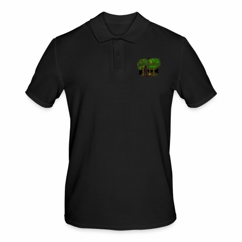 Bigfoot Campfire Forest - Men's Polo Shirt