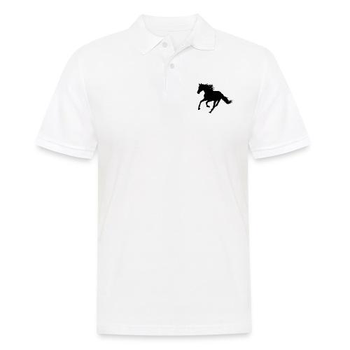 Black horse - Mannen poloshirt