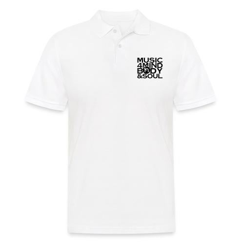 Music 4 Mind, Body & Soul Black - Men's Polo Shirt