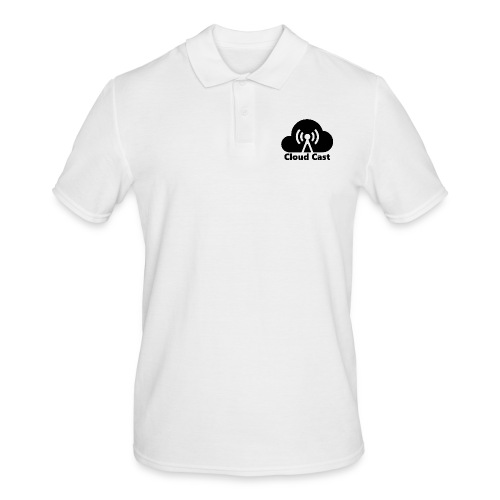 Cloud Cast Black mit Schriftzuga - Männer Poloshirt