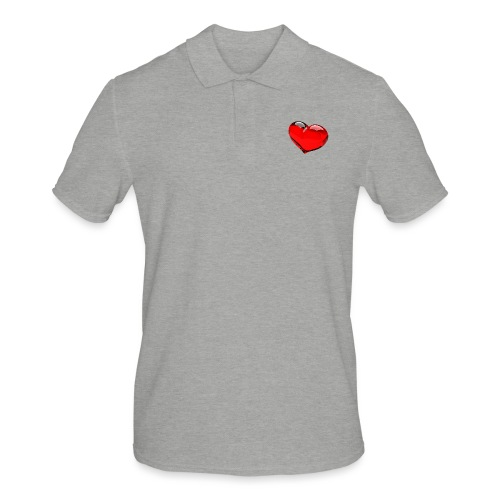 serce 3D - Koszulka polo męska