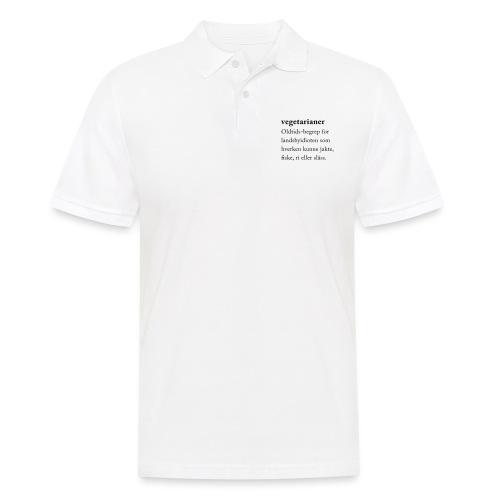 Vegetarianer definisjon - Poloskjorte for menn