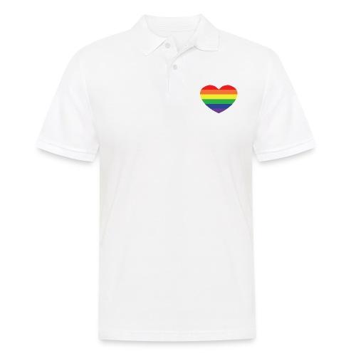 Rainbow heart - Men's Polo Shirt