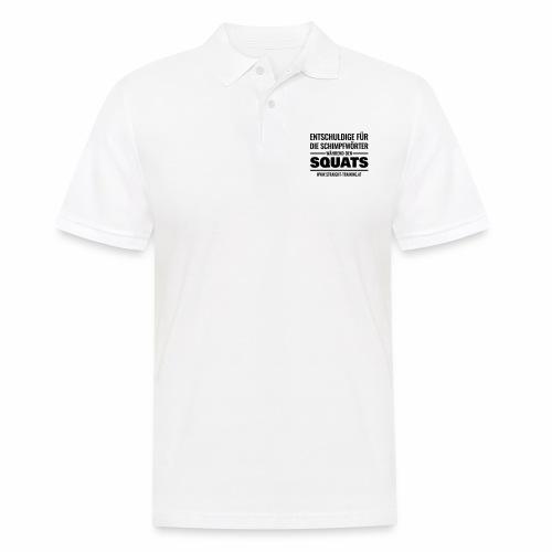 Entschuldige Squats - Männer Poloshirt