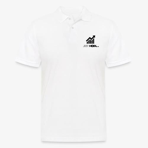 HODL-btc-just-black - Men's Polo Shirt