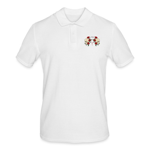 YARD skull and roses - Mannen poloshirt