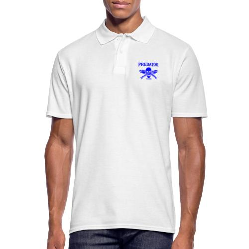 Predator fishing blue - Männer Poloshirt