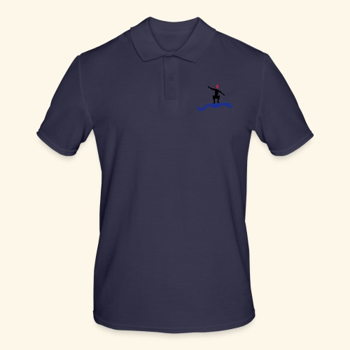 Surfing boy or girl catching a wave - Men's Polo Shirt